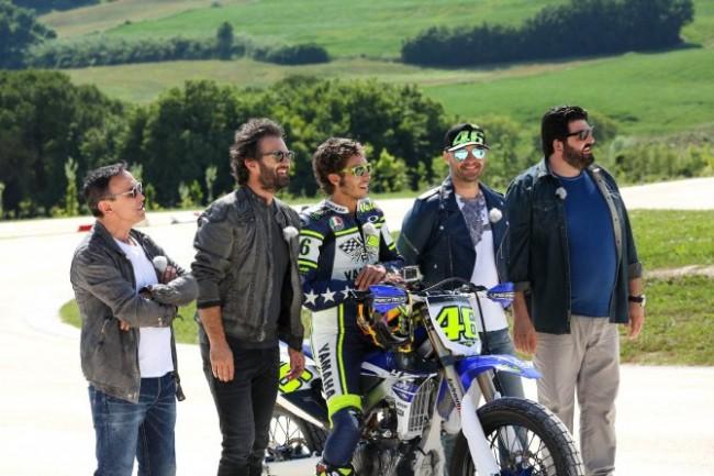 Bruno Barbieri, Carlo Cracco, Joe Bastianich e Antonino Cannavacciuolo di Masterchef a Tavullia nel ranch di Valentino Rossi (foto tratta dal web)