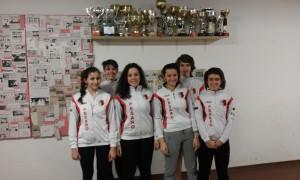I partecipanti del Club Scherma Pesaro alla gara di Montecatini