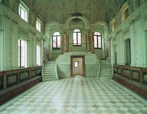 Interno della sinagoga di Pesaro in via delle Scuole