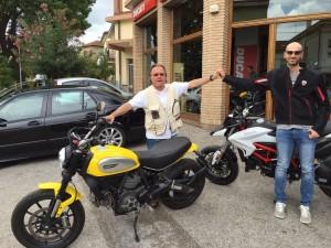 Alessandro Marcelli col Brusco, alias Maurizio Bruscolini