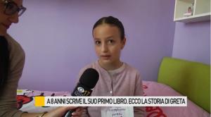 La piccola Greta Berardi (screenshot tratto da YouTube di Occhio alla Notizia)