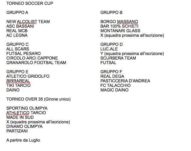 Soccer cup di Padiglione