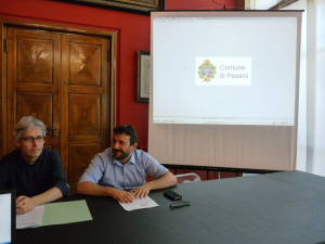 Il mobility manager Thomas Flenghi e l'assessore alla Sostenibilità Rito Briglia