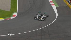 incidente Hamilton-Rosberg in Austria (foto tratta dal web)