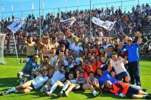 Fano dopo la vittoria dei playoff (FOTO Mauro Pucci)