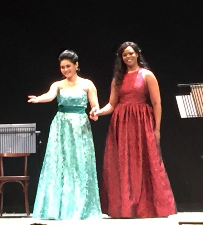 Pretty Yende, soprano sudafricano, e Aya Wakizono, mezzosoprano giapponese