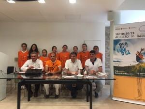 La conferenza stampa di presentazione. Da sinistra: Renato Claudio Minardi, Michele Brocchini, Massimo Seri e Boris Rapa