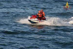 Moto d'acqua dei vigili del fuoco Pesaro