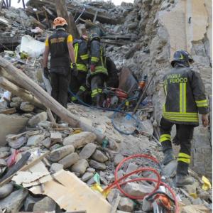 Terremoto (foto dei Vigili del fuoco)