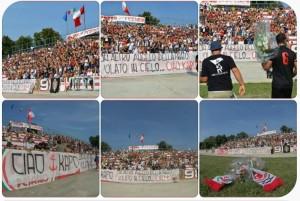 Il Benelli saluta Massimiliano Kapo Capanna (foto tratta da Fb)