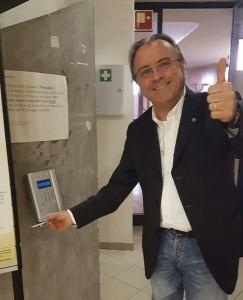 Maurizio Bruscolini timbra per l'ultima volta il cartellino