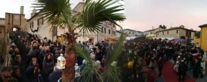Candele a Candelara (foto tratta dalla pagina Fb Pro loco)