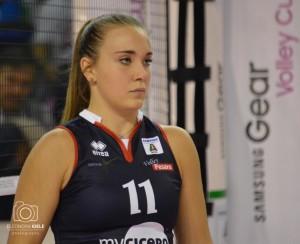 Rebecca Rimoldi, palleggiatrice lombarda in forza alla myCicero Volley Pesaro (Foto Eleonora Ioele)