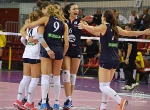 La grinta di Eleni Kiosi  (numero 6) che a Olbia è stata molto apprezzata (Foto Eleonora Ioele)
