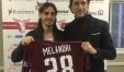 Daniele Melandri con la maglia del Fano e il ds Massimiliano Menegatti