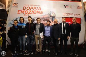 La presentazione con Migno, Bulega, Savadori, Albani, Cicchetti, Montemaggi e Brivio