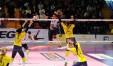 Un attacco di Tifanny durante la partita Palmi - Trento (dalla pagina Facebook della Golem Software)