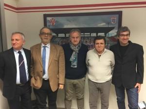 Da sinistra: Guerino Amadori, Roberto Bizzocchi, Claudio Pandolfi, Marco Ferri e Francesco Fornaci
