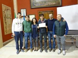 Luca Nardi premiato in Comune