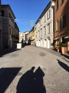 Corso XI Settembre senz'auto nella zona fuori Ztl (Foto tratta dalla pagina Facebook del sindaco Matteo Ricci)