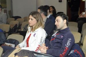Federica Mastrodicasa, qui con il suo coach Matteo Bertini, ha conquistato due Coppe Italia