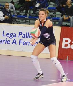 Nicole Gamba durante il derby tra Marche e Romagna (Foto Eleonora Ioele)
