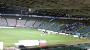 I giocatori dell'Alma esultano ad Ancona