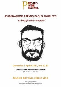 Locandina PREMIO PAOLO ANGELETTI