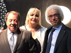 Alberto Drudi, presidente della Camera di Commercio, Gisella Bianchi, coordinatrice di Aspin 2000, e Vittorio Livi, presidente di Fiam