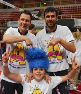 Andrea Burini e Luca Nico festeggiano con Alice Degradi (foto Eleonora Ioele)