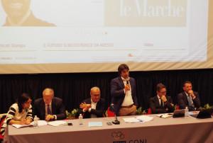 L'intervento di Andrea Biancani durante l'incontro sulla banda ultralarga