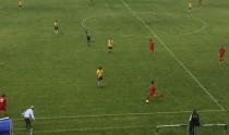 Un'azione del primo tempo del match fra Campobasso e Vis