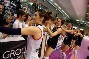 La myCicero salutata da pochi intimi dopo la vittoria casalinga con Olbia- una squadra così bella merita molto di più (Foto LVF)