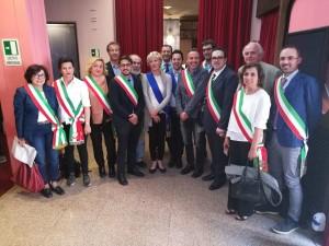 Daniele Tagliolini e i sindaci del territorio a Roma