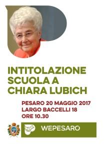 Intitolazione scuola a Chiara Lubich