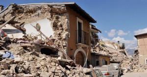 Una terribile immagine del sisma