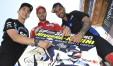 Il poster 2017 coi piloti Dovizioso, Pasini e Migno (foto Milagro – Gigi Soldano) che invitano al Gran premio di San Marino e della Riviera di Rimini