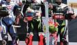 Il podio di gara 1 della SBK