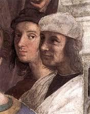Autoritratto di Raffaello e ritratto di Timoteo Viti nella Scuola di Atene)