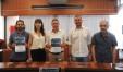 Nella foto da destra: il Presidente Team 80 Volley Daniele Montanari, il Direttore Tecnico Romano Giannini, il Sindaco Domenico Pascuzzi, l'Assessore allo Sport Rossana Biagioni e il responsabile comunicazione Team 80 Manuel Leonardi.