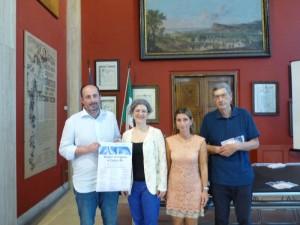 Nella foto l'assessore Daniele Vimini, Giuliana Maccaroni direttore artistico,  Laura Guidelli, Pierfranco Marini presidente  di Vespri d'organo