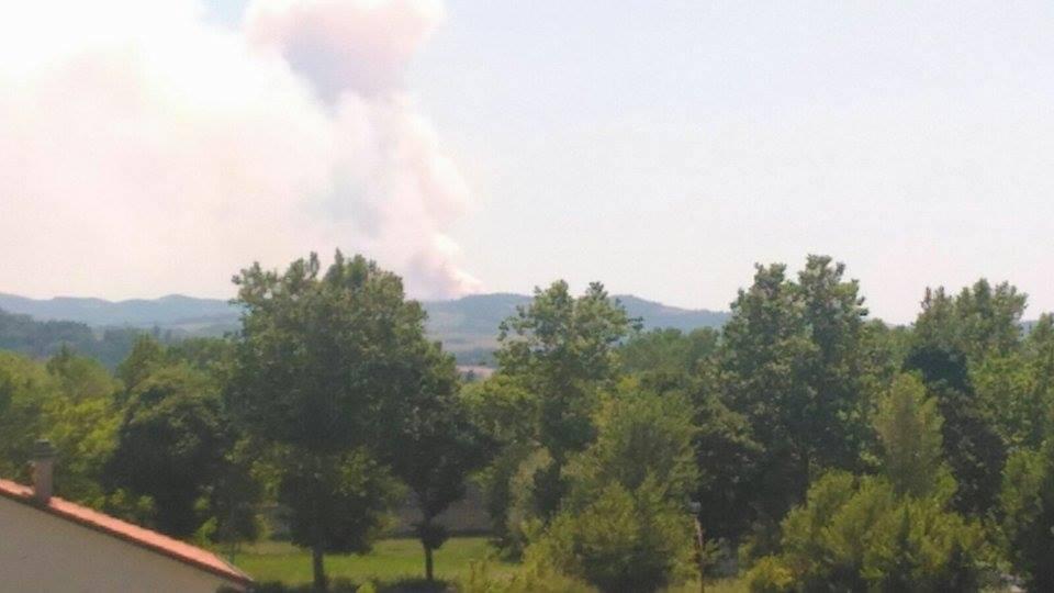 Incendio nei boschi di Urbino