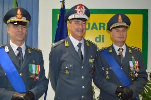 Da sinistra a destra: Col. t. ST Andrea Rizzo, Gen.B. Gianfranco Carozza, Col. t. ST Antonino Raimondo