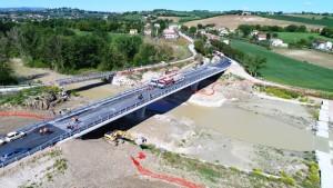 Il nuovo ponte sul Cesano
