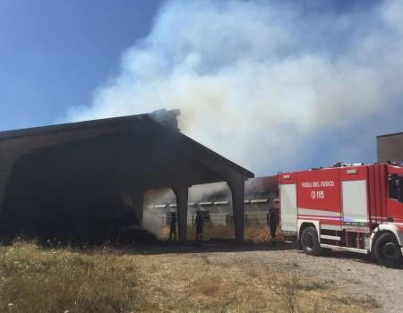 Incendio all'azienda agricola