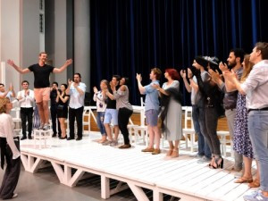 Gli allievi dell'Accademia provano nel Teatro Sperimentale (Foto Amati Bacciardi)