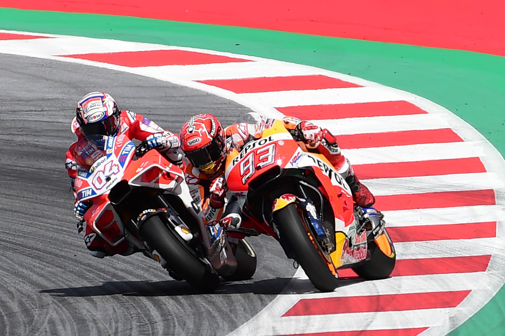 Andrea Dovizioso e Marc Marquez