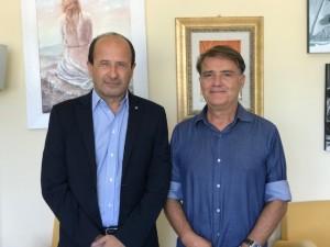 Luciano Cecchini con il Direttore di Confturismo Marche Nord Amerigo Varotti