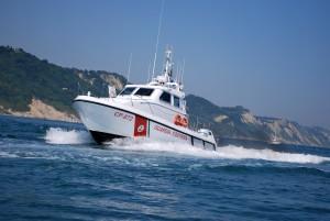 La motovedetta CP 872 della Guardia costiera capitaneria di porto di Pesaro