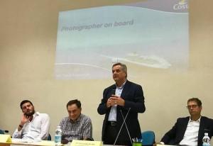Matteo Savio di Costa Crociere, Claudio Andreani responsabile di Ciof Pesaro, il Vice Presidente Renato Claudio Minardi e Paolo Cioppi